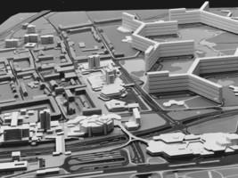 "Modell des geplanten ""Lindwurm"" in Leverkusen"