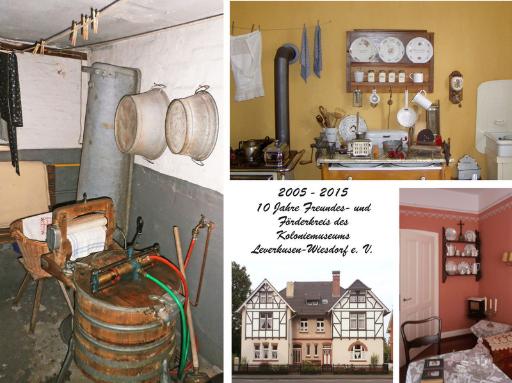 Postkarte zum zehnjährigen Jubiläum des Freundes- und Förderkreis des Kolonie-Museums Leverkusen e.V.