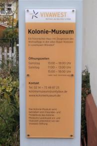 Öffnungszeiten Kolonie-Museum Leverkusen